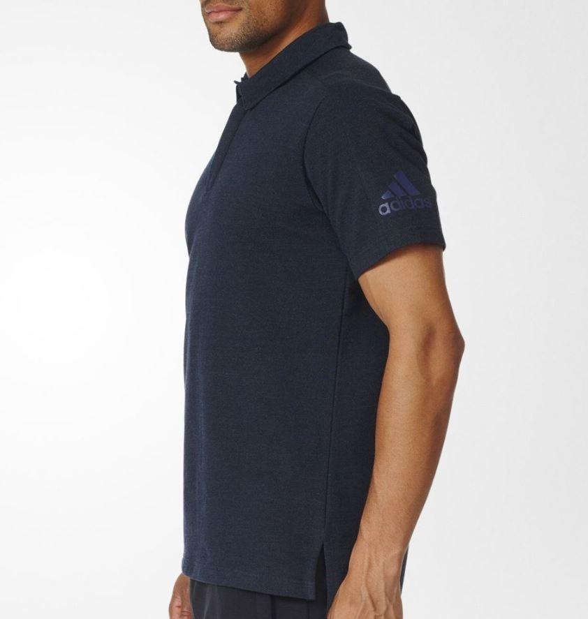 Pánske tričko adidas ZNE POLO modré  44fcffe56d5