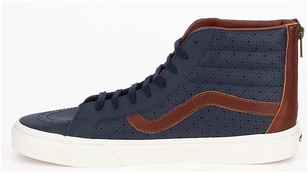 Pánske členkové topánky Vans UA SK8-HI REISSUE ZIP modré. Sleva 1412aeae1d9